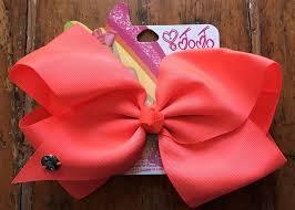 big present bow jojo siwa signature big hair bow neon orange cheer pageant