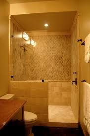 Doorless Shower For Small Bathroom Bathroom Doorless Shower Design Pictures Remodel Decor And