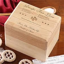 box personalized engraved wood recipe box and cards recipe for design