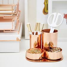 Magnetic Desk Accessories Copper Magnetic Desk Set The Container Store