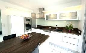 cuisine blanc laqué et bois cuisine blanche et bois modele cuisine blanc laque modele cuisine