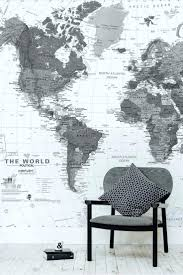 wood map cutout wooden world stained travel theme decor