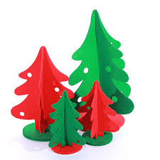 handmade felt tree ornaments lights decoration