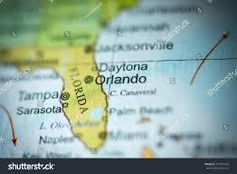 Map Of Orlando Fl by Closeup Of Orlando Florida On A Political Map Of Usa Stock Photo