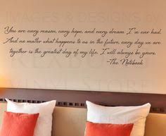 Wall Decal Quotes For Bedroom by Romantic Sayings Vinyl Wall Art Master Bedroom By Wildeyessigns