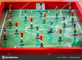 table top football games player figurines of tabletop football game stock photo