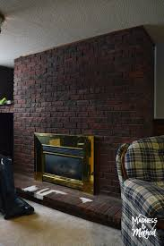 dry brush bricks fireplace makeover madness u0026 method
