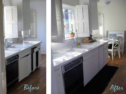 kitchen cabinet white cabinets stainless appliances small