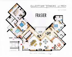 big floor plans floor plans to your favorite tv character u0027s homes frasier