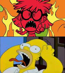 Homer Simpson Meme - homer simpson afraid of lisa loud meme blank by alexeigribanov