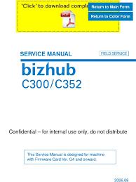 konicaminolta bizhub c300 c352 service manual pages