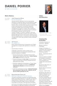 Vp Finance Resume Examples Chief Financial Officer Resume Samples Visualcv Resume Samples