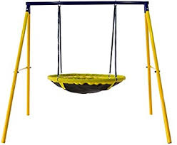 Backyard Swing Sets For Kids by Amazon Com Jump Power Ufo Swing Set For 1 Or 2 Children Kids And