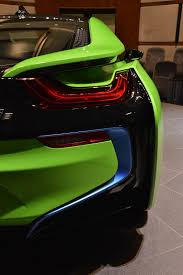 ever seen a lime green bmw i8 before