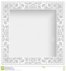 square frame with cutout paper lace border stock vector image