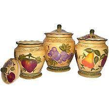 tuscan canisters kitchen kitchen canisters ebay