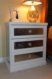 Glass Mirrored Bedroom Set Glass Mirror Night Stands 39 Stunning Decor With Silver Nightstand