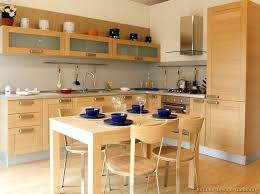 interesting wood kitchen ideas with cabinets and kitchen table