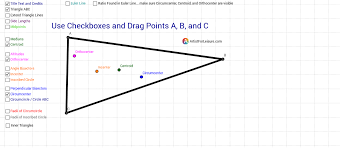 exploring triangle centers in depth geogebra
