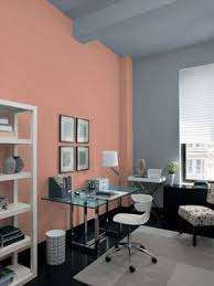 water front in the windy city transitional home office wall paint