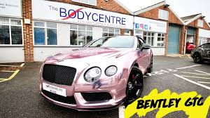 rose gold bentley bentley gtc wrapped in rose gold chrome youtube