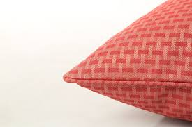 Red Bed Cushions Deluxe Basket Weave Woven Jacquard Filled Cushion Sofa Bed