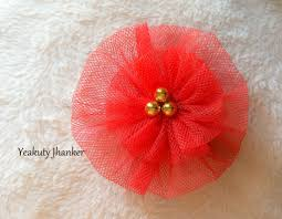 hair flower diy how to make a circular tulle flower hair clip
