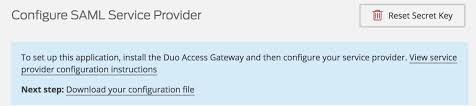 duo access gateway generic saml service provider duo security