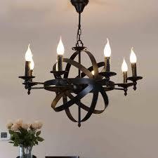 Rh Chandelier Black Rh Retro Industrial Candle Shape Chandelier E14 Home Hotel