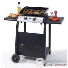 cuisine à la plancha gaz plancha gaz 2 feux avec chariot brasero cuisine 11319 dans plancha