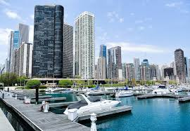 Map Of Downtown Chicago Burnham Chicago Harbors Belmont Harbor The Chicago Harbors In
