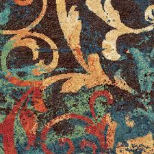 Multicolored Rug Wonderful Bright Multi Colored Area Rugs Orian Watercolor Scroll