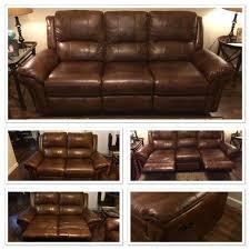 cognac leather reclining sofa havertys payton cognac leather reclining sofa loveseat furniture
