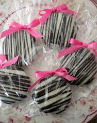 pink zebra minnie mouse chocolate covered oreos cookies glam party