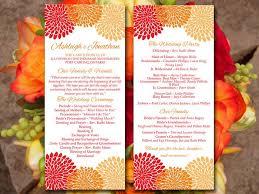 tea length wedding program template 194 best autumn wedding images on pumpkins menu and