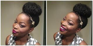 how to do a high bun on medium length natural hair tutorial youtube