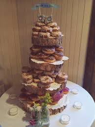 cup cake stands rustic wood tree slice 4 tier donut or cupcake stand for your