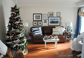 Christmas Living Room by Christmas Living Room Night Hang White Socks Blue Christmas Tree