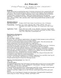 Sample Resume For Java Developer it developer sample resume residential child care worker sample