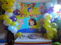 bubble guppies balloon decorations for birthday party birthday