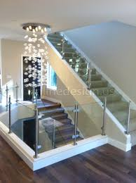 stainless steel railing systems round end post with round glass