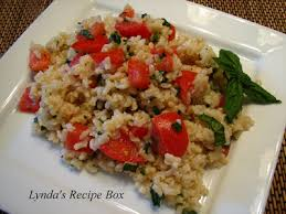 ina garten tomato lynda s recipe box brown rice tomatoes and basil adapted from