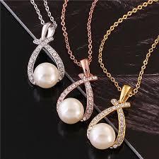 pearl pendant necklace wholesale images Latest design pearl necklace gold plating teardrop shape pedant jpg