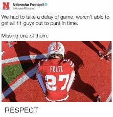 Nebraska Football Memes - nebraska football fbnation football we had to take a delay of game