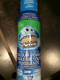 Scrub Vire scrubbing bubbles bathroom cleaner with color power technology