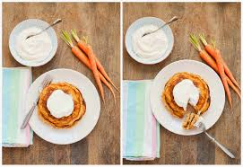 carrot cake pancakes with maple whipped cream cheese a