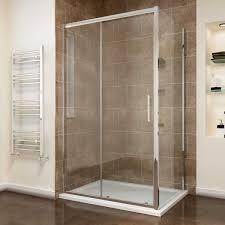 Easy Clean Shower Doors Screen Cubicle 8mm Easy Clean Sliding Shower Doors Set