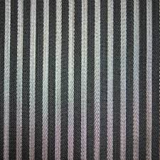 striped black silver design soft shiny colour chenille upholstery