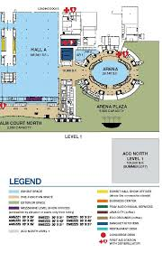 Orange County Convention Center Floor Plan by Arena Capacities Anaheim Ca Official Website