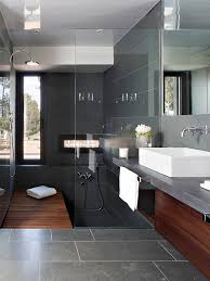 Bathroom Slate Tile Ideas Best 25 Dark Bathrooms Ideas On Pinterest Slate Bathroom Slate